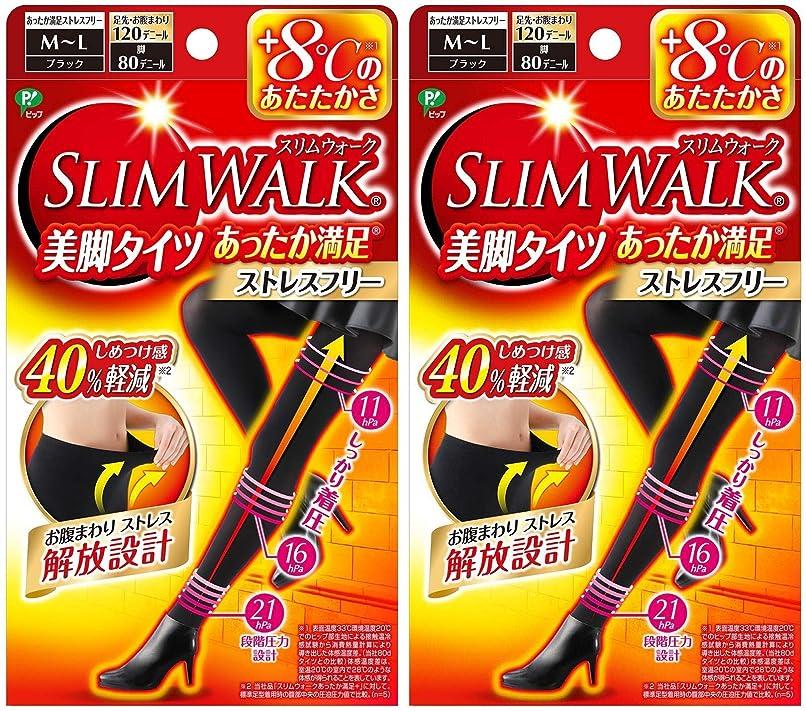チャンス殺しますフレッシュ【2個セット】 スリムウォーク (SLIM WALK) 美脚タイツ あったか満足 おそと用 M~Lサイズ