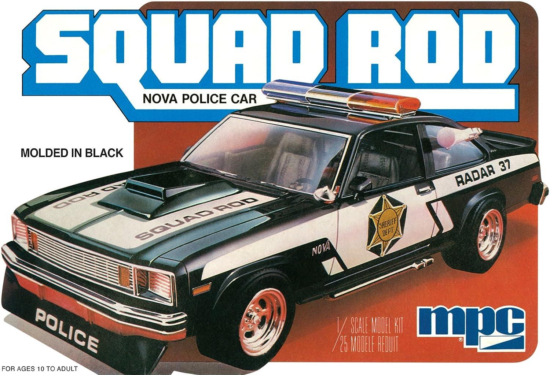salida de fábrica CMP 8511  25Escala Kit Kit Kit de modelo  1979Chevy Nova Squad para barra de coche de policía  hasta un 70% de descuento