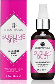 Sublime Bust Volumizing Bust Serum - Breast Firming & Lifting Formula with Pueraria Mirifica + Adifyline for Natural Bust Enhancement and Shaping - 2 oz.