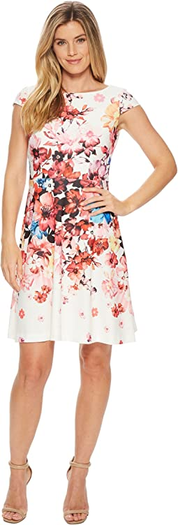 Spring In Bloom Printed Fit & Flare