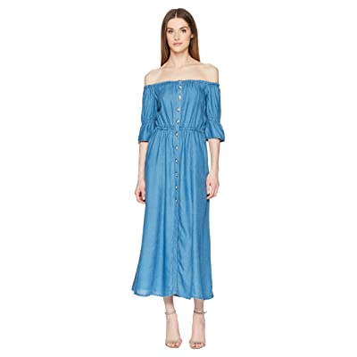 The Kooples Long Tencel Dress (Blue) Women