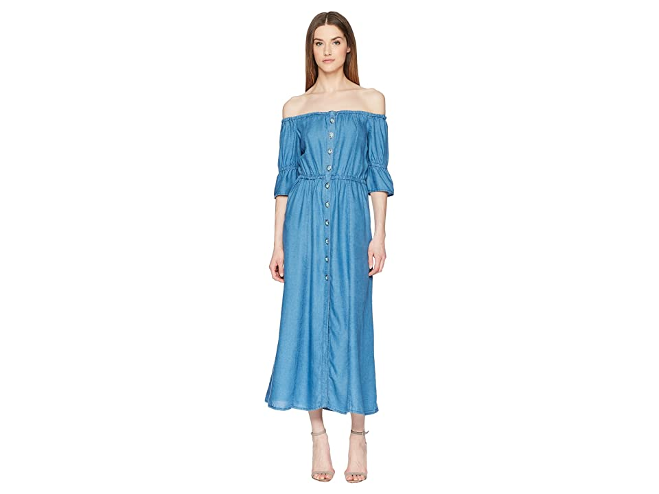 The Kooples Long Tencel Dress (Blue) Women