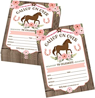 Girl Western Horse Baby Shower Nugget Labels  Cowgirl Favors  Pink Western Country Horse DIY Candy Stickers Printed bs-127