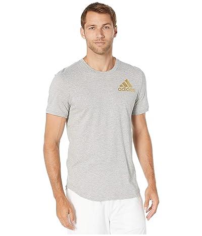 adidas Sport ID Metallic Tee (Medium Grey Heather) Men
