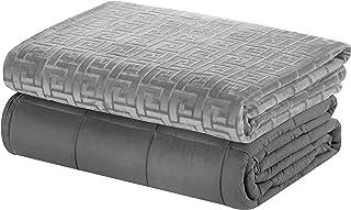 Merrylife Gewichtete Decke 8,16 Kg mit Bezug | Besser Schlafen, Gewichtsdecke, Erwachsene, schwere Decke als Einschlafhilfe, beschwerte Decke, Bettdecke 122x182, Weighted Blanket Grau mit Bezug