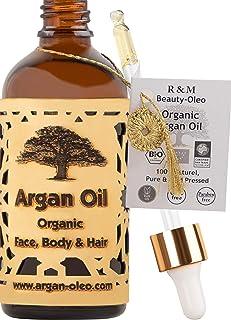 comprar comparacion R&M Beauty-Oleo - Aceite de Argán orgánico prensado en frío. Aceite marroquí de comercio justo para masajes, cabello, cara...