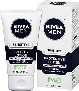 NIVEA Men Sensitive Protective Lotion 2.5 Fluid Ounce (Pack of 3)