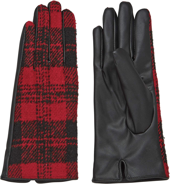 Mud Pie womens Plaid Winter Gloves