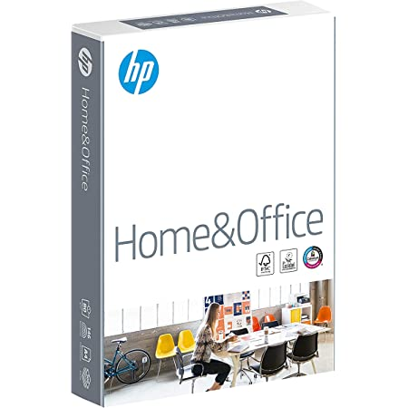 HP Home and Office Carta, Formato A4, 107 Micron, Risma 500 Fogli, Certificata ECF, PEFC ed Ecolabel, Cellulosa, Bianco