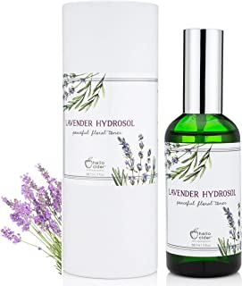 LAVENDER HYDROSOL FACE TONER - All Natural Organic Essential Floral Water Spray to Hydrate, Calm & Sooth Skin. Prevent Acnes, Restore pH. Great as Yoga, Sleep & Pillow Linen Mist by Hello Cider