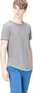 comprar comparacion Marca Amazon - find. Camiseta Jaspeada de Cuello Redondo para Hombre