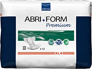 Abena Abri-Form Premium XL4 Extra Large (110-170 Centimeter), Case of 4 Packs of 12 (Incontinence Slips)