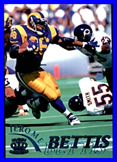 1996 Pacific Gridiron #102 Jerome Bettis HOF ST. LOUIS RAMS Notre Dame Fighting Irish vs. Chicago Bears Measures 3.5x5 inches