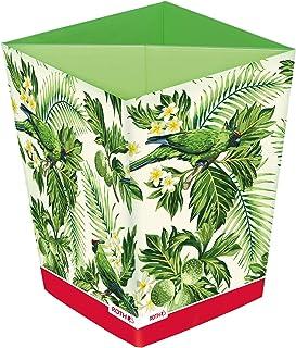 ROTH Corbeille à papier - Jungle - Corbeille à papier pliable tropical avec système de séparation en carton pour chambre ...