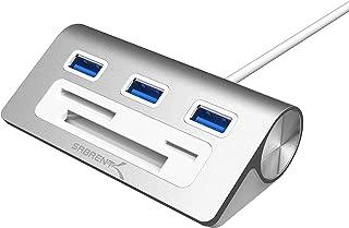 Sabrent Premium 3 Port Aluminum USB 3.0 Hub with Multi-in-1 Card Reader (12