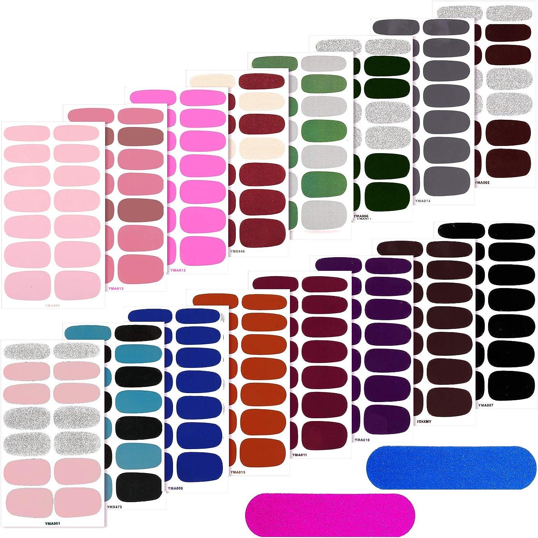 16 Sheets Full Wrap Nail Self-Adhesive Stickers Max 53% OFF Polish Art