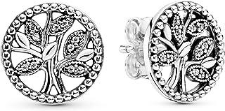 اقراط مسمار مصنوعة من الفضة الاسترليني 925 للنساء من باندورا - 297843CZ
