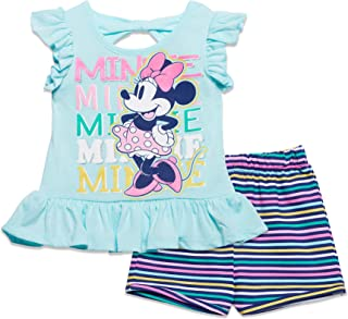 Disney Baby Girls 2pc Minnie Mickey Mouse Short Set 18 Months Blue