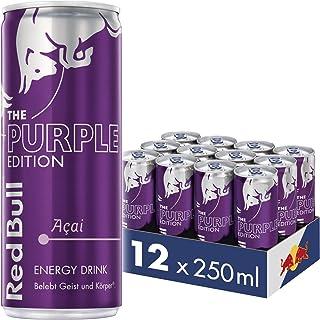 Red Bull Energy Drink Acai-Beere Dosen Getränke Purple Edition 12er Palette, EINWEG 12 x 250 ml