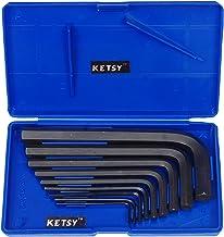 KETSY Chrome Vanadium Crv Allen Key (Blue, 1.5, 2, 2.5, 3, 4, 5, 6, 8, 10 Mm) -Set of 9 Pieces