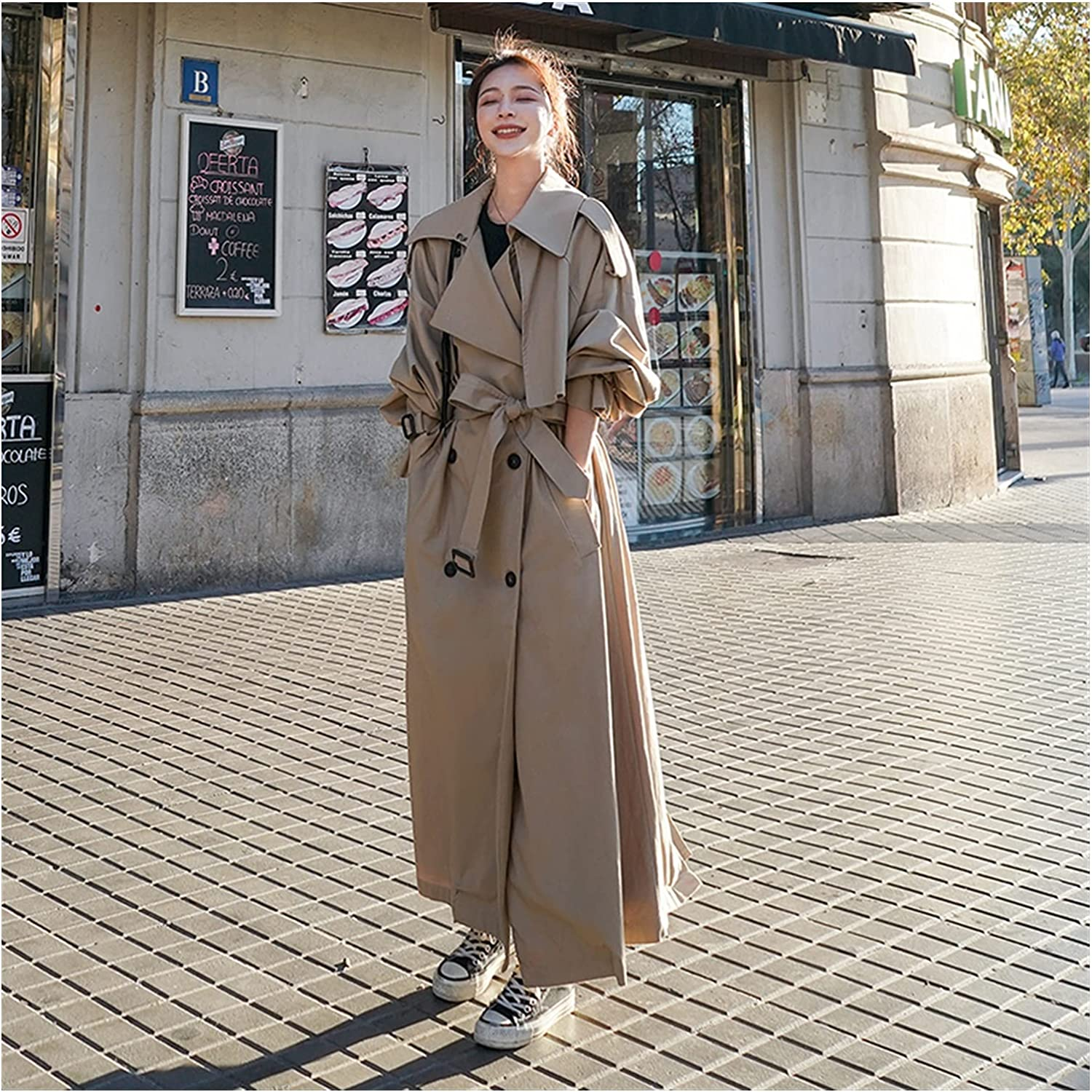 UXZDX Korean Style Loose Oversized Coat Women's New arrival 70% OFF Outlet X-Long Trench Do