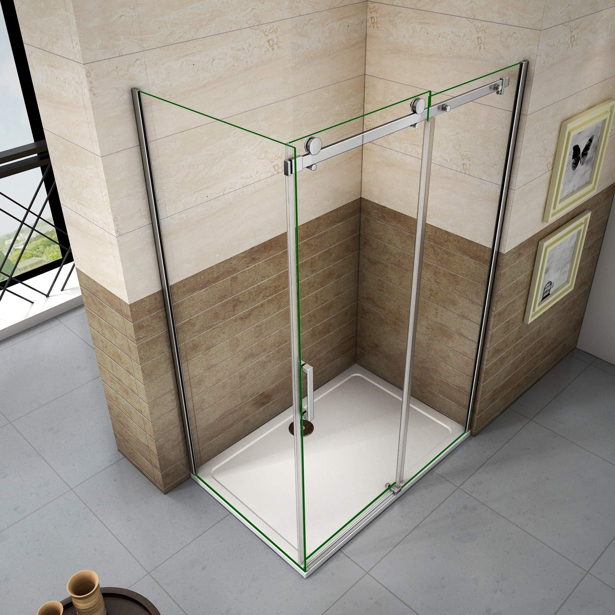 100x80x195cm Mamparas de ducha cabina de ducha 8mm vidrio templado de Aica: Amazon.es: Bricolaje y herramientas