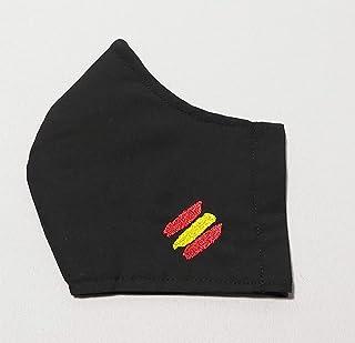 Mascarilla bandera de España bordada a máquina, higiénica reutilizable, con bolsillo interior y filtro Tnt 100% Polipropil...