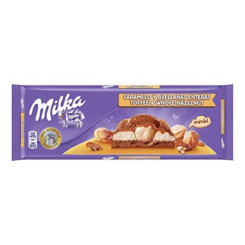 Milka - Tableta de Chocolate con Caramelo y Avellanas - 300 g