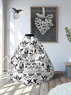 83 by @Home Kit XL Leatherette Bean Bag (White & Black)
