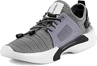 recorrer Exotic Grey Men's Casual Slip On (Lock Laces) Sneaker Shoes