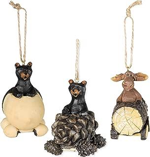 Bear & Moose Driving Ornaments 3 Piece Decorative Set