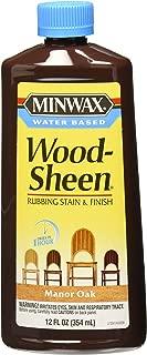 Minwax 304140000 Water Based Wood-Sheen Running Stain & Finsh, 12 ounce , Manor Oak