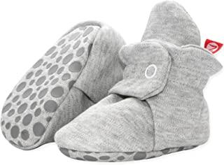 Cotton Baby Booties with Grippers - Soft Sole Stay On Baby Shoes