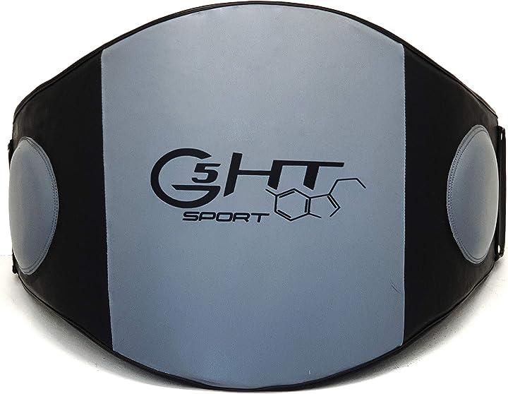 Corpetto arti marziali cinturone g5 ht sport maestro similpelle B07QXT1MBR