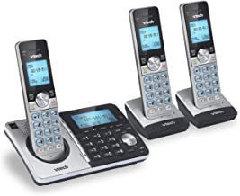 VTech CS5159-3 3-Handset DECT 6.0 Cordless Phone with Answering System and Caller ID, Silver/Black (Renewed) photo