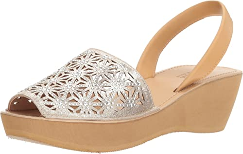 Kenneth Cole REACTION Wohommes Shine Far Platform Slingback Wedge Sandal, Sandal, Soft or, 8 M US  il y a plus de marques de produits de haute qualité