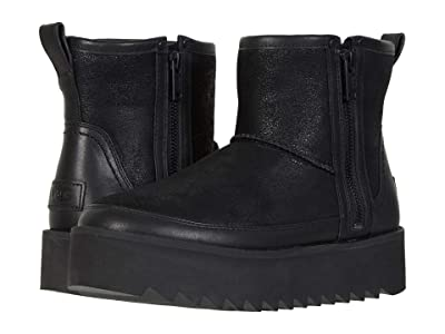 UGG Classic Rebel Biker Mini (Black) Women
