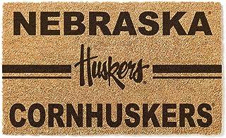 KH Sports Fan Nebraska Cornhuskers Logo Team Coir Doormat, Multi