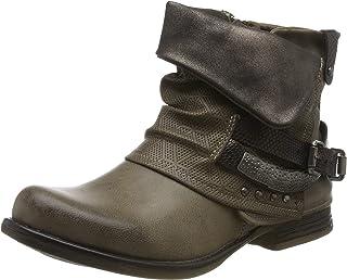 7cf960ff129 Elara Mujer Botines | Cómodo Biker Boots | Metallic Print Remaches | Chunky  Ryan