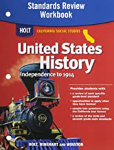 Holt United States History: Standards Review Workbook Grades 6-8 Beginnings to 1914