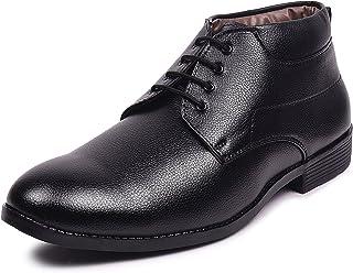 Andrew Scott Men's Black Leather Formal Shoes-11 UK/India (45 EU) (4210Black_11)