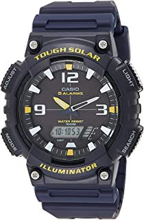 Casio Men's AQ-S810W-2AVCF Sport Solar-Powered Blue Watch 46 mm