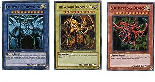 YuGiOh Legendary Collection Ultra Rare God Card Set of 3 Egyptian God Cards Slifer, Obelisk Ra