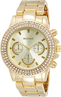 MESTIGE Womens Quartz Watch, Analog Display and Brass Strap - MWWT20