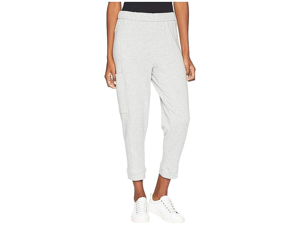 Eileen Fisher Tencel Organic Cotton Fleece Slouchy Pants (Dark Pearl) Women