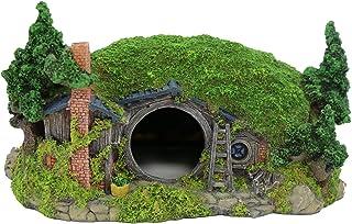 BobbyPet Aquarium Decoration Hobbit House Fish Tank Ornament Rockery Landscaping 11inL x 8inW x 6.5inH