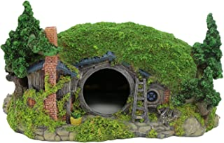 YSLDSNX Aquarium Ornaments Fish Tank Supplies Decorations Landscape Scenery Bookcase Accessories Resin Decor Hobbit Reptile House Big Large Cave Handmade Light Green