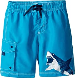 Hatley Kids - Shark Alley Boardshorts (Toddler/Little Kids/Big Kids)