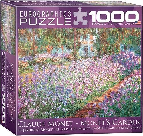 Eurographics 8x 20,3cm Box Monet S Garden par Claude Monet Mo Puzzle (1000pièces)