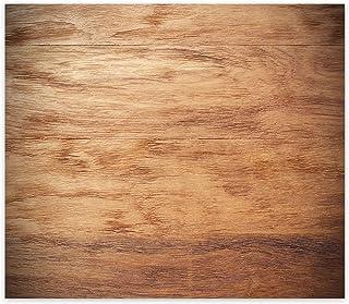 Decorita 10001509013 Ahşap Görünümlü Cam Ocak Arkası Koruyucusu, 40cm x 60cm